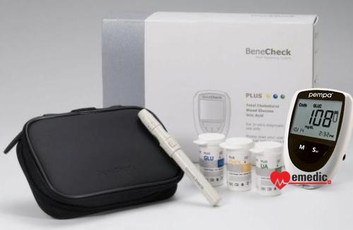 Pempa 3w1 - urządzenie do pomiaru cholesterolu, kwasu moczowego, glukozy